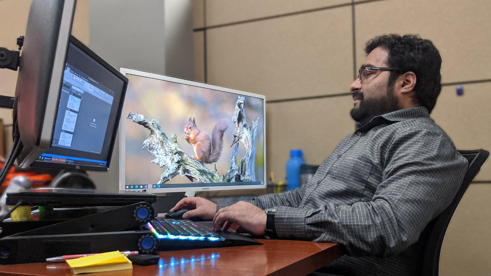 Sailesh Kumar at his desk in POR HQ.