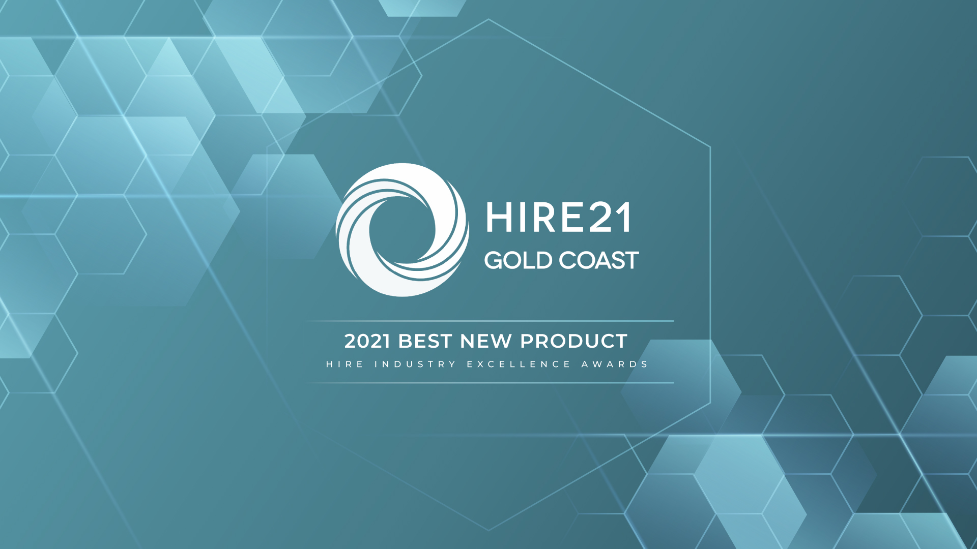 Hire Industry Excellence Award HIRE21 logo, graphic