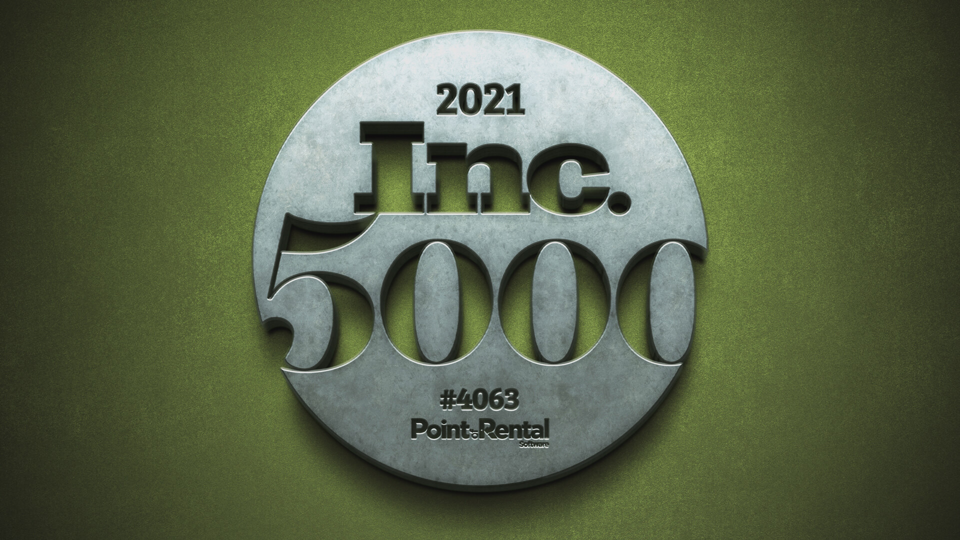Inc. 5000 graphic with Point of Rental's rank, #4063