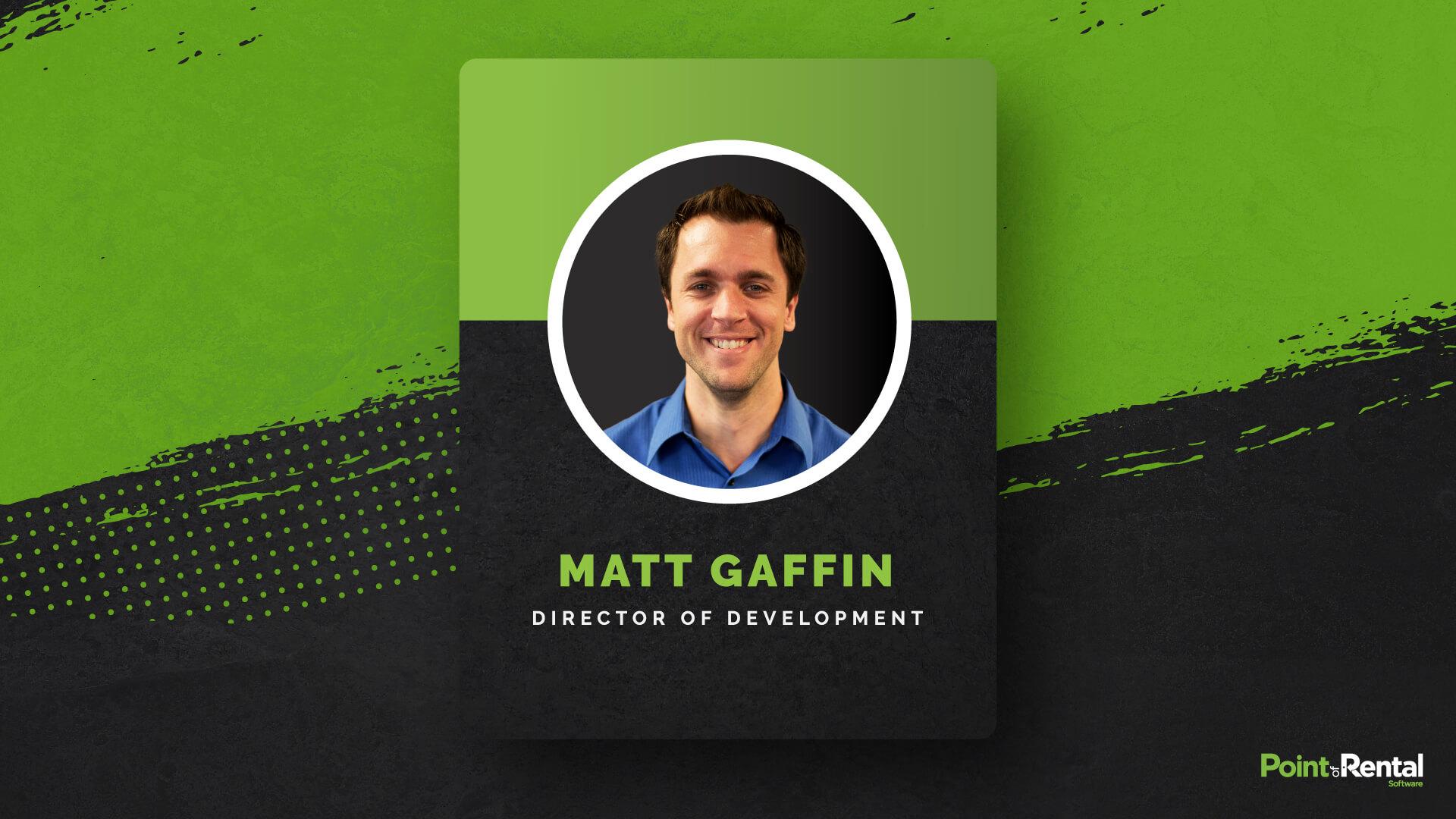 Matt Gaffin named director of development headshot